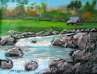 Painting - Awesome Creek by Luis F Rodriguez