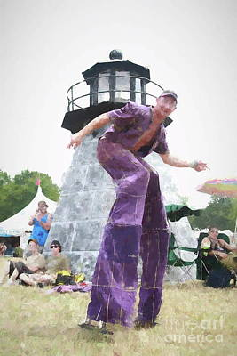 Painting - Awesome Dude On Stilts by Concert Photos