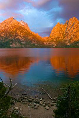 Photograph - Awesome Early Morning Quiet In The Tetons by Polly Castor