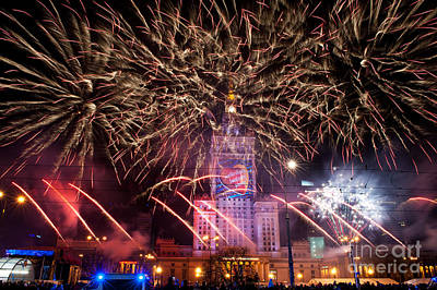 Awesome Fireworks At 22nd Gocc Art Print by Arletta Cwalina