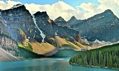 Athabasca Falls Photograph - Awesome Moraine Lake by Frozen in Time Fine Art Photography