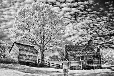 Photograph - Awesome Shot - Blue Ridge Bw by Dan Carmichael