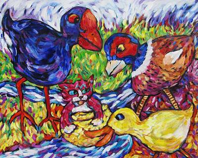 Painting - Awesum Foursum by Dianne  Connolly
