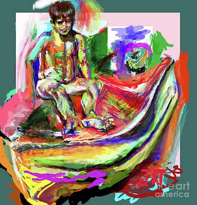 Awkward Boy Awkward Boy Art Print by James Thomas
