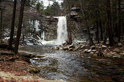 Photograph - Awosting Falls In January #2 by Jeff Severson