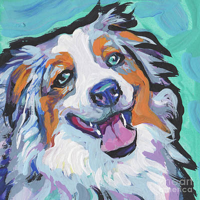 Australian Shepherd Painting - Awwsummmm by Lea