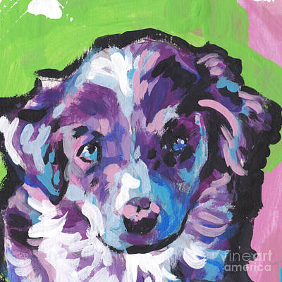 Dog Pop Art Painting - Awww See Baby by Lea S
