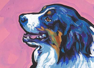 Australian Shepherd Painting - Awww Seee by Lea S