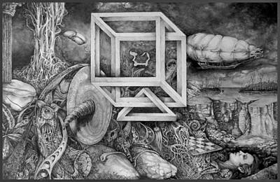 Drawing - Axis Mundi by Otto Rapp
