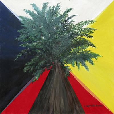Axis Painting - Axis Mundi by Susan Cafarelli Burke