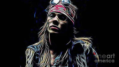 Music Mixed Media - Axl Ros by Marvin Blaine