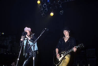 Izzy Stradlin Photograph - Axl Rose And Izzy Stradlin by Rich Fuscia
