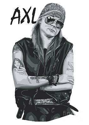 Illusttation Digital Art - Axl Rose by Caio Caldas