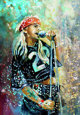 Painting - Axl Rose by Miki De Goodaboom