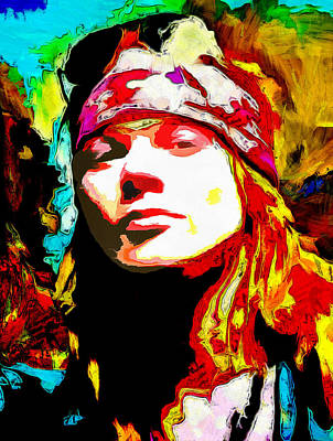 Heavy Metal Painting - Axl Roses by Galeria Zullian  Trompiz