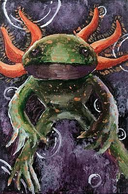 Painting - Axolotl by Ashley Heath