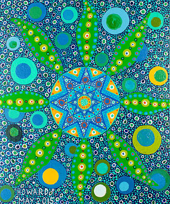 Painting - Ayahuasca Vision - Inside The Plant Cell  May 2015 by Howard Charing