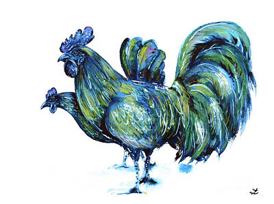 Ayam Cemani Pair Art Print