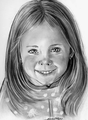 Drawing - Aydia At 4 Years Of Age by Barb Baker