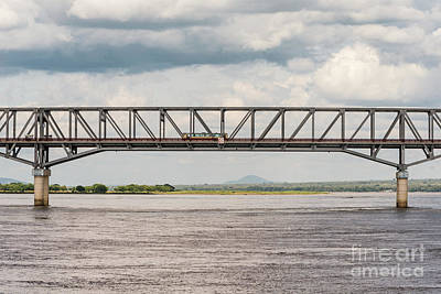 Photograph - Ayeyawady Bridge At Pakokku by Werner Padarin