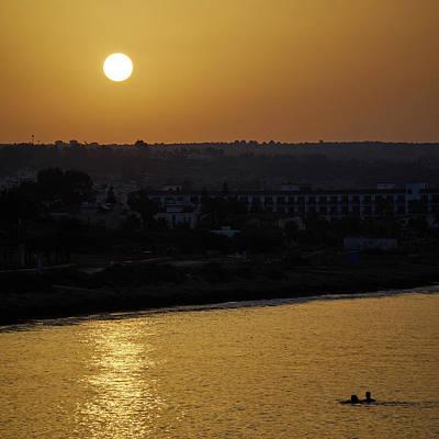 Photograph - Ayia Napa Sunrise Morning Swim by Jouko Lehto