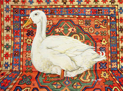 Persian Carpet Painting - Aylesbury Carpet Drake by Ditz