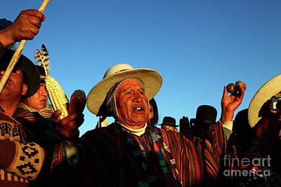 Ano Nuevo Photograph - Aymara New Year Harvest Thanksgiving Bolivia by James Brunker