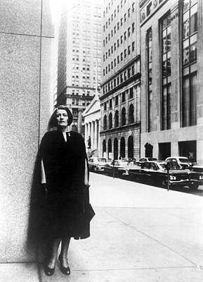 1960s Portraits Photograph - Ayn Rand Author Of Capitalism The by Everett