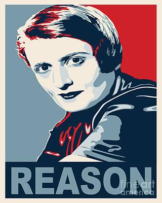 Ayn Rand Wall Art - Digital Art - Ayn Rand by John L