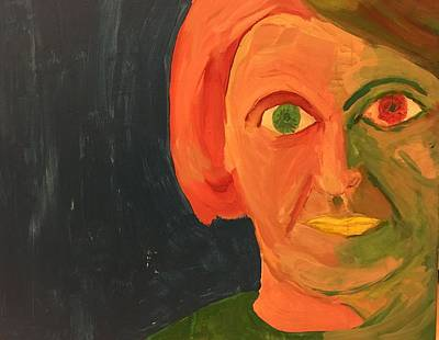 Ayn Rand Wall Art - Painting - Ayn Rand by Jose Benegas