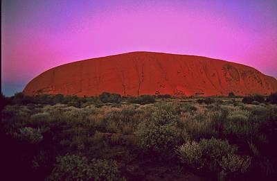 Photograph - Ayres Rock by Gary Wonning