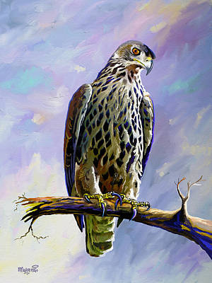 Painting - Ayres's Hawk Eagle  by Anthony Mwangi