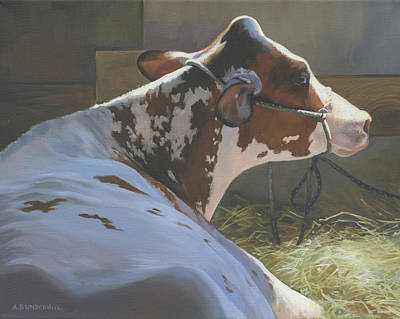 Painting - Ayrshire Cow by Alecia Underhill