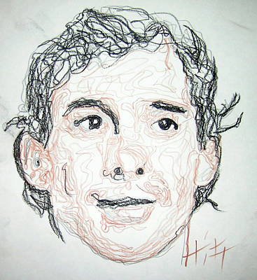 Ayrton Senna - Sketch Original by Jacob  Hitt