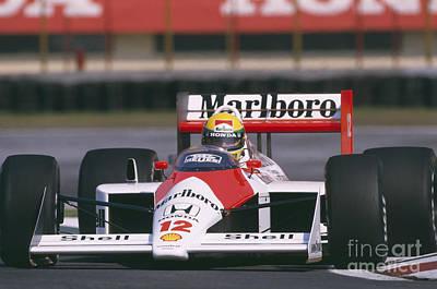 Ayrton Senna. 1988 Mexican Grand Prix Art Print