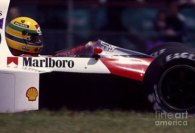 Canadian Grand Prix Photograph - Ayrton Senna. 1989 Canadian Grand Prix by Oleg Konin