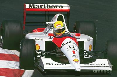 Photograph - Ayrton Senna. 1991 Canadian Grand Prix by Oleg Konin