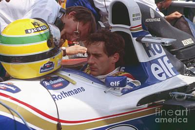 Photograph - Ayrton Senna. 1994 San Marino Grand Prix by Oleg Konin