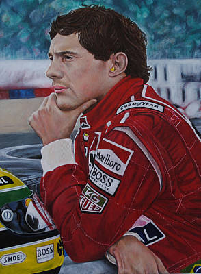 Painting - Ayrton Senna by David Dunne