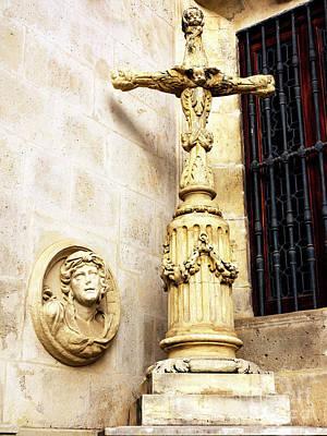 Photograph - Ayuntamiento De Sevilla Cross by John Rizzuto