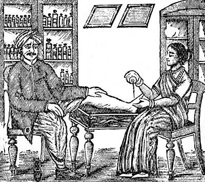 Ayurvedic Medicine, Gout Treatment Print by Wellcome Images