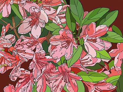 Painting - Azalea Bunch by Jamie Downs