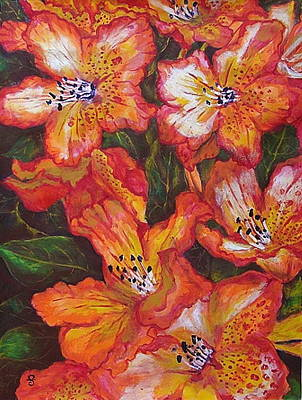 Painting - Azalea by Silvia Gold