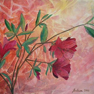 Painting - Azaleas by Arlissa Vaughn
