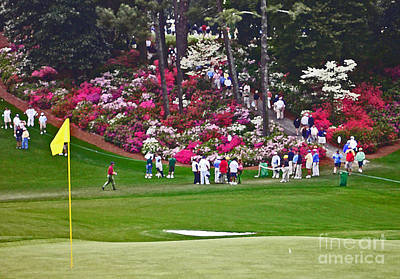 Augusta Golf Photograph - Azaleas In Bloom by David Bearden