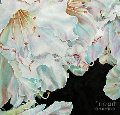 Azaleas-in-italy Art Print by Nancy Newman