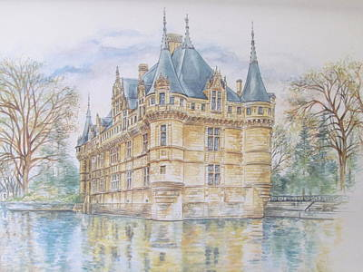 Azay Le Rideau Art Print