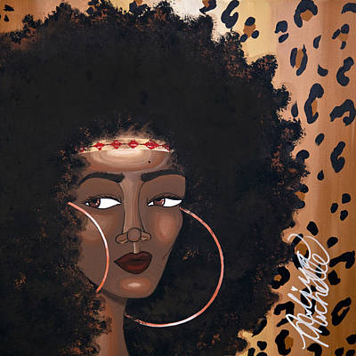 Black Woman Painting - Azima by Aliya Michelle