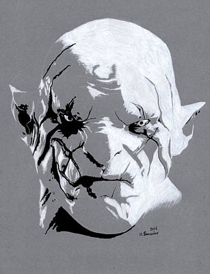 Drawing - Azog The Defiler by Kayleigh Semeniuk
