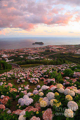 Azores Photograph - Azorean Town At Sunset by Gaspar Avila